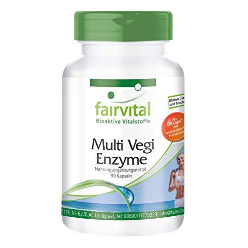 Multi Vegi Enzyme - Multienzym Komplex - 90 Kapseln - für eine zeitverzögerte Freisetzung