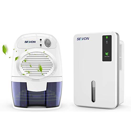 SEAVON 500ml small dehumidifier and 1500ml dehumidifiers for home