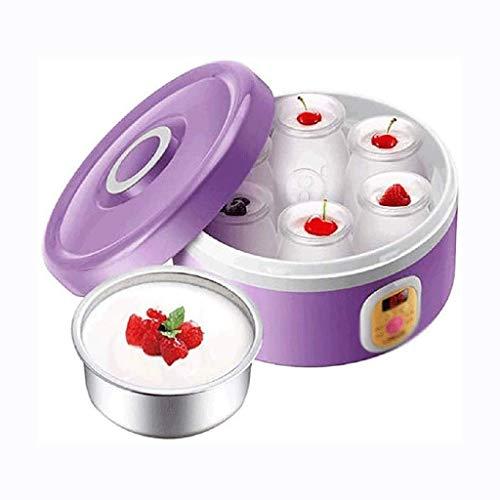 JJZXD Automatic Yogurt Machine-Automatico Yogurt Maker Macchina 7 Vetro Greco Vasi Personalizzare a Proprio Sapore e Spessore Elettrico Maker