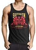 style3 Saiya Gym 9000 Camiseta de Tirantes para Hombre Tank Top Songoku Roshi Ball z Roshi Dragon, Talla:S