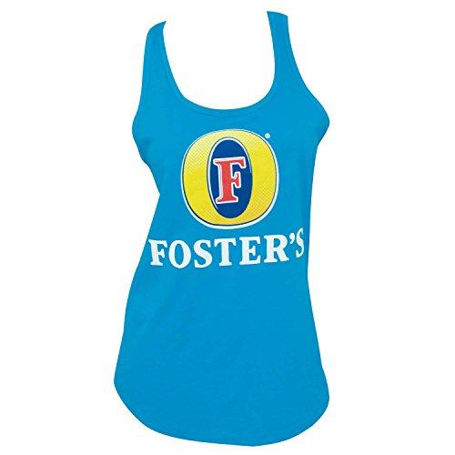 Fosters Bier-Logo schulterfrei Frauen Aqua Tank Top Medium