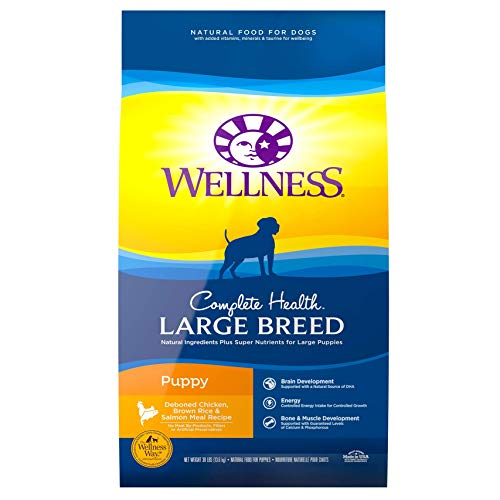 Wellness Natural Pet Food 89115 Complete Health Natural Dry Large Breed Puppy Food, Chicken, Salmon...