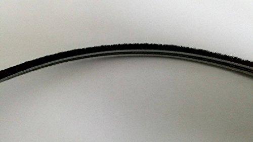 5 Meter Bürstendichtung 5 x 6 mm Bürste- Dichtung für Rolladen Führungsschienen- schwarz