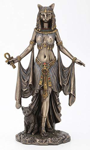 "Veronese Design Bastet Egyptian Goddess of Protection Statue Sculpture 10"" Tall"