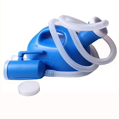YUMSUM Urinoir masculin 2000ML Bouteille urinoir pour homme Avec tube de 1.3M (bleu)
