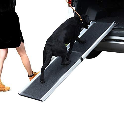 LIEKUMM Zusammenklappbare tragbare Haustierrampe - ideal für Autos, LKWs und SUV - Leichte und langlebige Hunderampe unterstützt Rampen mit Einer Länge von bis zu 90 kg,180 * 42cm (MR907)