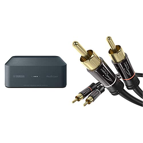 Yamaha WXAD10 Wireless Streaming Adapter & KabelDirekt 1m RCA Audio Video Cable/Cord (2 RCA to 2 RCA, Amplifiers, AV-Receivers, Hi-Fi, Digital and Analogue, Double Shielded) PRO Series