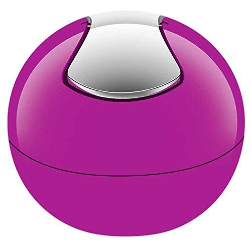 Spirella 10.15113 Kosmetikeimer 1 Liter Abfalleimer Schwingdeckeleimer Tischabfalleimer 'Bowl' Pink