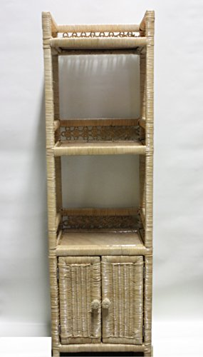 RATTAN WICKER 3 TIER BATHROOM DRAWER