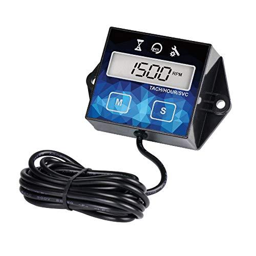Yooreal Contaore Digitale Motore, Ore e RPM con Promemoria Manutenzione, Batteria Sostituibile per...
