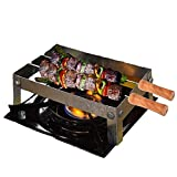 ANSHEZ® Barbeque Grill Stand For Gas Stove | Gas Tandoor Grill For Home | Foldable Chhota Tandoor with 2 Needles & 1 Jali