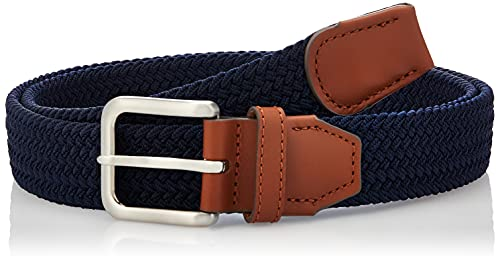 Jack & Jones JACSPRING Woven Belt Noos Ceinture, Bleu (Bleu Marine Blazer), 90 Homme