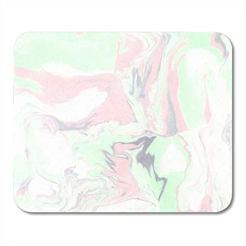 AOHOT Mauspads Marble Ink Pastel Neon Pink Green Mint Gray Abstract Flow Beautiful DIY Natural Hi Res Suminagashi Mouse pad Mats 9.5