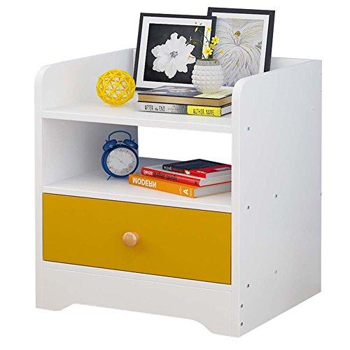 Nachtkastje JCOCO Mini Wood-Based Panel, lade en plank, slaapkamer Locker Bedside Storage Box