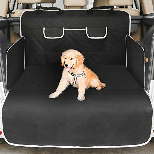 KIBTOY Kofferraumschutz für Hunde - Reißfeste&Wasserdichter Quilted Kofferraumdecke Hundedecke Auto mit Seitenschutz Schützt den Kofferraum und die Stoßstange vor Schmutz, Kratzern und Haaren