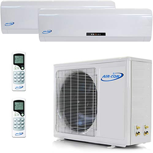 2 Zone Mini Split - 9000 + 12000 Ductless Air Conditioner - Pre-Charged Dual Zone Mini Split - Premium Quality - USA Parts & Awesome Support