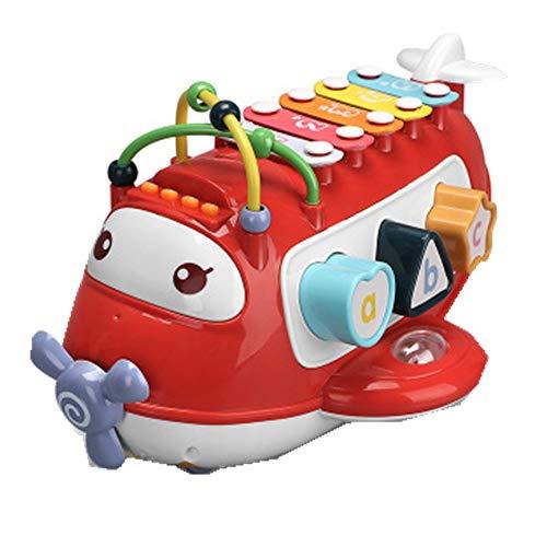 Juguetes Musicales De Xilófono Para Niños Pequeños Martillo de juguete Instrumentos palpitación del Banco de juguete con martilleo de los juguetes del bloque 1 2 3 Años de Edad Banco Multicolor Martil