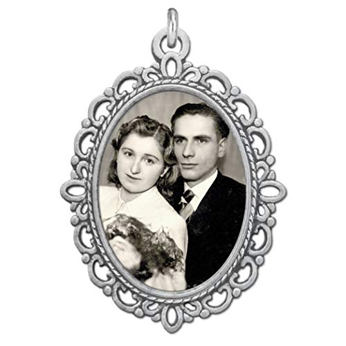 Bridal Wedding Bouquet Photo Charm Silver Picture Frame Memorial DIY Includes Photo Resizing Software