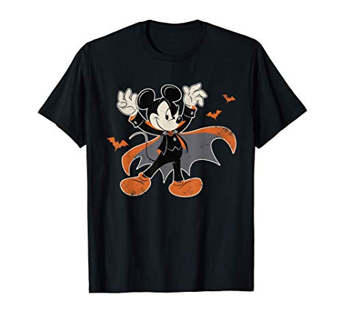 Disney Mickey Mouse Spooky Dracula Costume Halloween T-Shirt