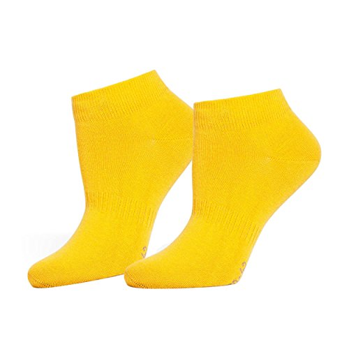 Safersox Sneaker Socken Gelb, 43-46