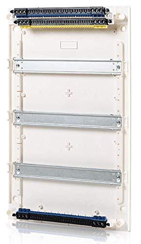 Kleinverteiler Aufputz (AP), Unterputz (UP), Hohlwand (HW) (AP-Verteiler, 3-reihig, 36+6 Module, Steckklemme, Tür Kunststoff, 1)