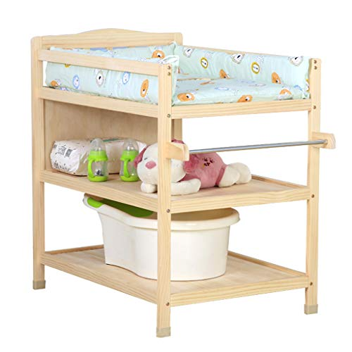 LAMXF Baby Universal Wickeltisch mit Rollen und Tower Hanger Room/Wickeltablett für Kommode/Wickelstation wechseln/Polster und Sicherheitsgurt wechseln/Baby-Pflegestation/Neugeborene Station