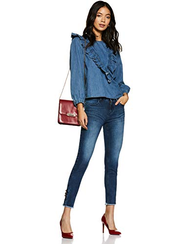 CHEROKEE Women's Slim Fit Jeans (280246442_Indigo_32_IN-30