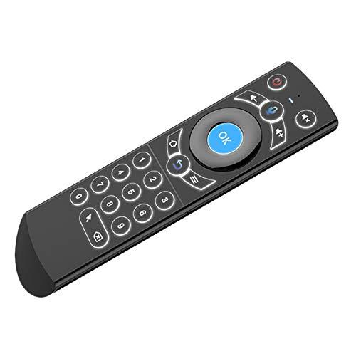 Kaxofang G21 Wireless Voice Air Mouse 2.4G RF Giroscopio Teclado Control remoto para X96 KM9 A95X H96 MAX F3 Android TV Box