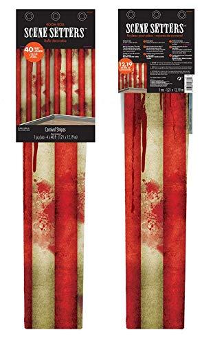 54 x 38 Inch Kesoto Halloween Bloody Doorway Curtain Creepy Carnival Door Curtain Decoration