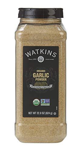 Watkins Gourmet Spice, Organic Garlic Powder, 22.0 oz. Bottle, 1 Count...