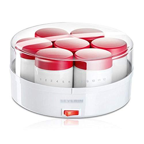 SCJ Haushaltsjoghurt-Hersteller, automatische Reisweinmaschine mit geteiltem Glas, Natto-Maschine mit großer Kapazität (Farbe: Rot)