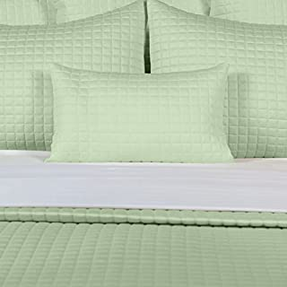 Bamboo Block Quilted Coverlet Bedding