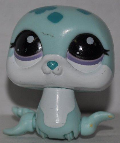 Littlest Pet Shop - Petshop Trotteur - Bébé PHOQUE blanc bleu