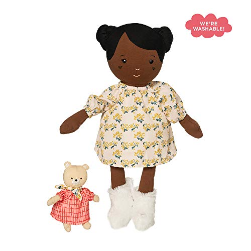 Manhattan Toy Playdate Friends Harper Machine Washable and Dryer Safe 14 Inch Doll with Companion Stuffed Animal