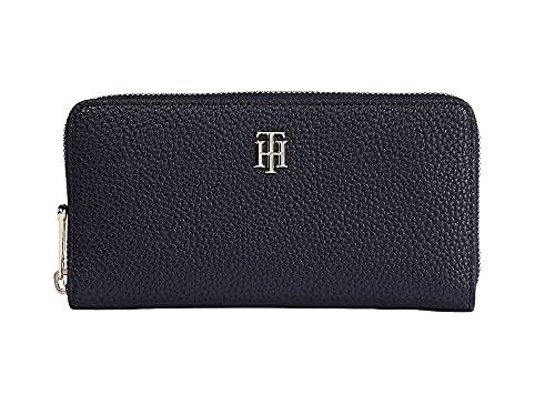 Tommy Hilfiger Damen TH Soft Large ZA Wallet Reisezubehr-Reisebrieftasche, blau, Einheitsgröße