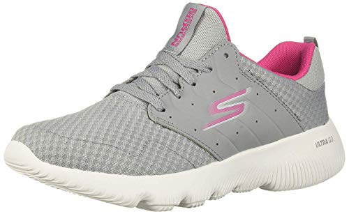 Skechers Women's GO Run FOCUS-15162 Sneaker, Gray/Pink, 9.5 M US