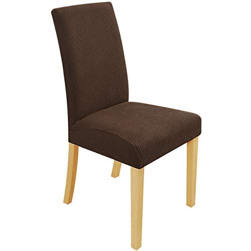 Speedsporting Stuhlhussen Stretch Abnehmbare Waschbar Stuhlbezug für Esszimmerstühle Elastische Set Stuhlabdeckung Moderne Beschützer...