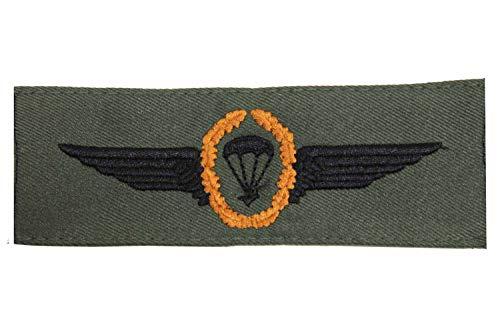 Unbekannt Abzeichen Bundeswehr Fallschirmjäger Bronze auf Oliv Aufnäher