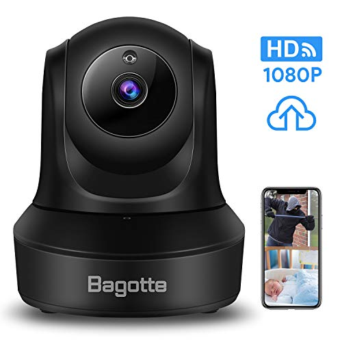 Best Price! WiFi Security Camera, Bagotte 1080P HD Home Wireless IP Camera, Surveillance Cloud Cam F...