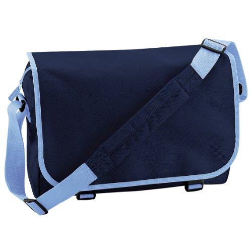 BagBase - Bolso bandolera ajustable (11 litros) (Paquete de 2) (Talla Única) (Azul marino azul cielo)