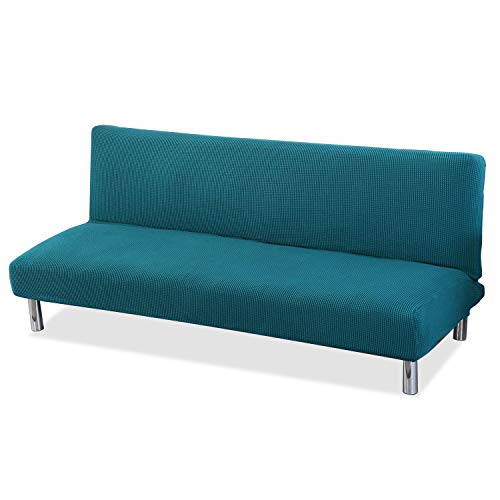 PETCUTE Funda de sofá Clic clac elástica Funda Sofa sin reposabrazos Funda de sofá Cama Azul Marino