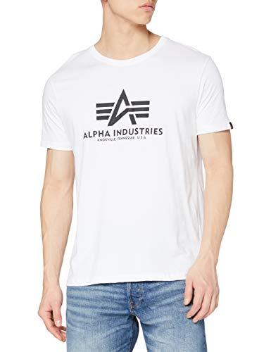 Alpha Industries Herren Basic T-Shirt, Weiß (White 09), Medium