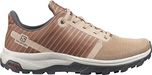 Salomon Damen Outbound Prism Track and Field Shoe, Hellbraun (Sirocco/Mocha Mousse/Alloy), 39 1/3
