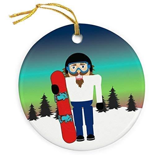Cukudy Snowboarden Keramische Kerst Ornamenten 2018 Nieuwigheid Notenkraker Kerstmis