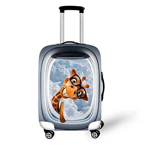 Gelbe Giraffe Kofferhülle Kofferschutzhülle Elastisch Verschleißfeste Reisekoffer Hülle Luggage Cover mit Reißverschluss 18-28 Zoll Gepäckraumabdeckung Schutzbezug Koffer Abdeckung M