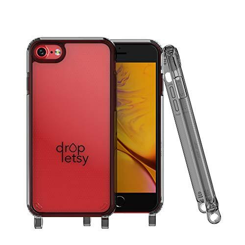 DROPLETSY - Carcasa transparente para iPhone de TPU - Carcasa transparente para cadena - Apple iPhone 7/8 Plus (iPhone 7/8 Plus, color gris transparente)