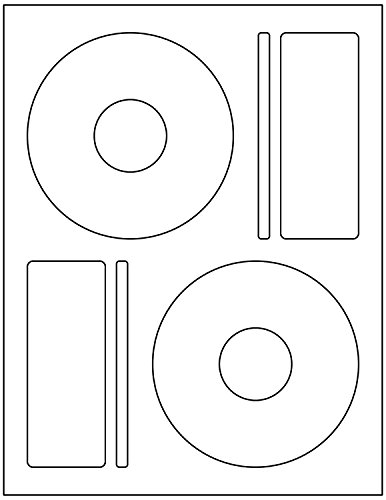BESTeck 200 Memorex Compatible CD / DVD Labels. Large Center Style. 200 Total Labels with Spine and Case Labels. Compare to Matte Finish Memorex Labels. Works in both laser and ink jet printers.