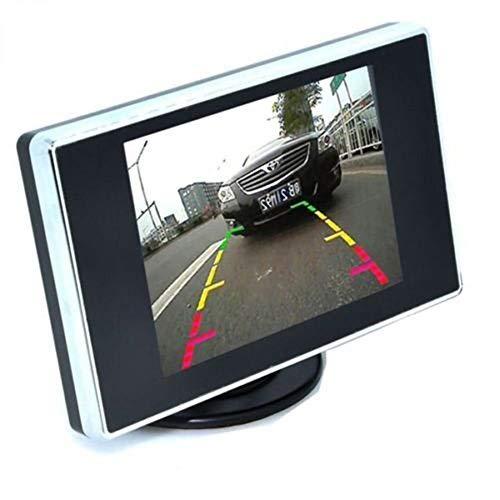 Auto wayfeng WF visual marcha atrás 3,5 'monitor LCD de visión trasera para coche Back Up cámara pantalla TFT para el salpicadero