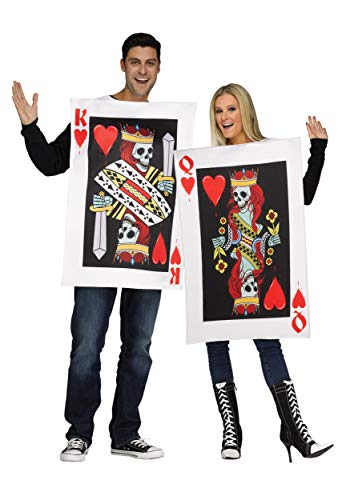 Halloween couple's costume king and queen of hearts