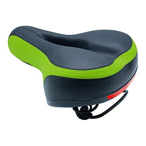 Diseño de Doble Resorte Asiento de Bicicleta de montaña Suave y Transpirable Asiento de Bicicleta Cómodo Asiento de Bicicleta para Hombres y Mujeres.